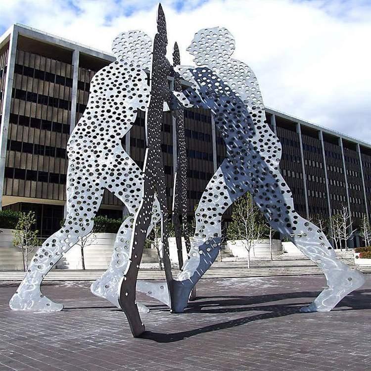 不锈钢镂空人物剪纸雕塑