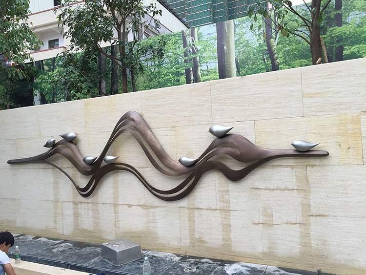 段铜浮雕墙雕塑