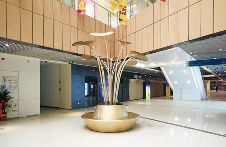 商场玻璃钢坐凳树池雕塑