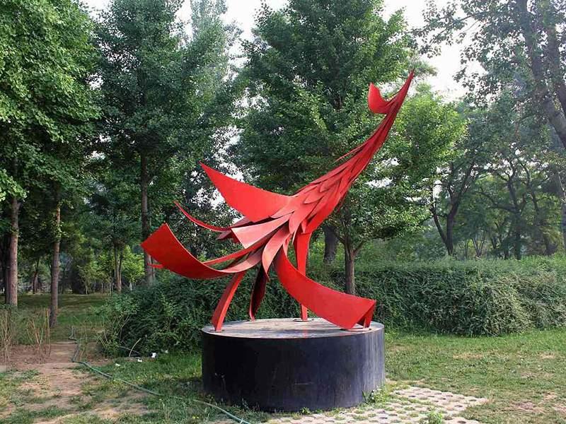 不锈钢凤凰雕塑
