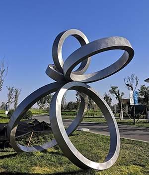 公园五环不锈钢雕塑