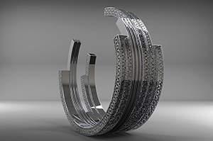镜面不锈钢雕塑设计方案