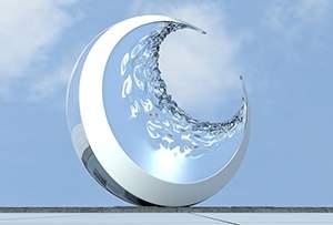 抽象月亮雕塑设计制作