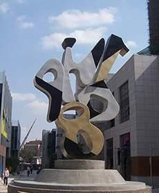 宜宾不锈钢喷漆数字成琴雕塑