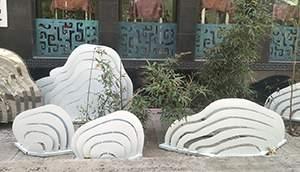 云朵金属雕塑造型