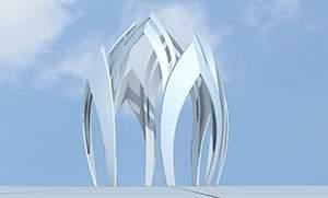 城市广场叶片雕塑设计方案