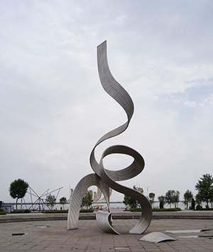 抽象不锈钢钢管广场雕塑