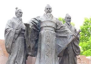 战国武将古代人物雕塑