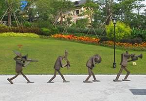 吹拉弹唱公园人物抽象雕塑