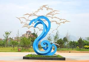 踏浪海鸥不锈钢雕塑