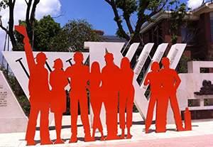 不锈钢人物剪影雕塑造型