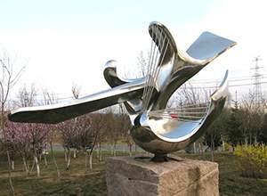 镜面不锈钢园林抽象雕塑