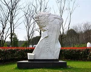 向往抽象人物雕塑