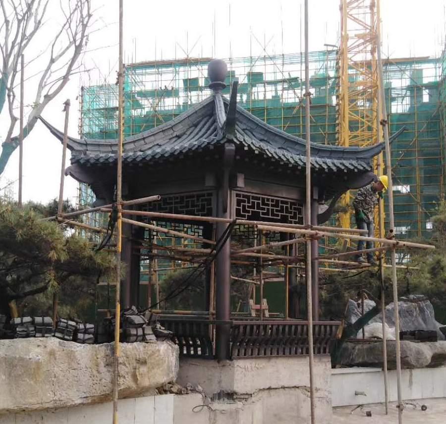 钢结构仿古景观亭制作安装