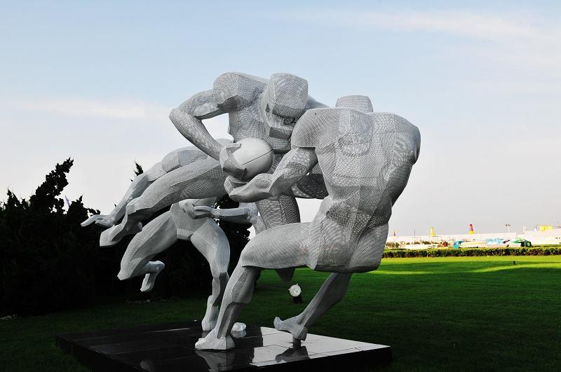 体育运动人物雕塑