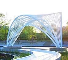 成都保利钢结构景观廊架