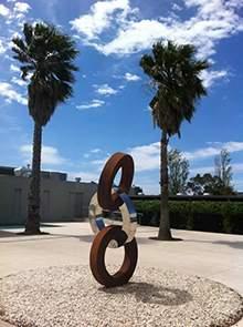 公园圆环不锈钢雕塑