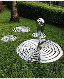 不锈钢几何水滴公园户外园林落地雕塑摆件售楼处酒店景观