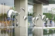 户外大金属抽象雕塑摆件酒店会所售楼处庭院不锈钢软装饰