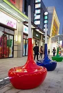 玻璃钢坐凳玻璃钢美陈商业街美陈摆件