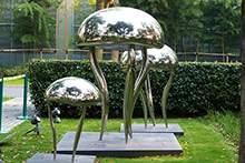 不锈钢镜面水母造型异形雕塑镜面雕塑