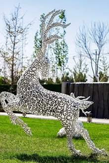 镂空拼接鹿造型定制镂空鹿造型摆件雕塑