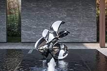 不锈钢雕塑镜面水景雕塑异形花瓣雕塑