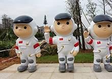 玻璃钢人物雕塑宇航员雕塑卡通人物雕塑