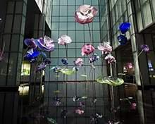 不锈钢花朵不锈钢水景雕塑彩色水景雕塑地产雕塑