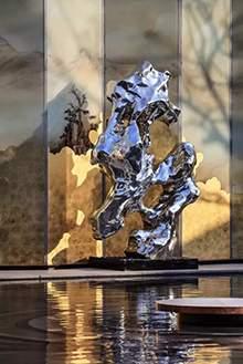 不锈钢太湖石不锈钢异形石头不锈钢水景摆件