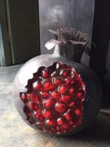水果雕塑玻璃钢水果雕塑玻璃钢仿真石榴雕塑室内仿真摆件
