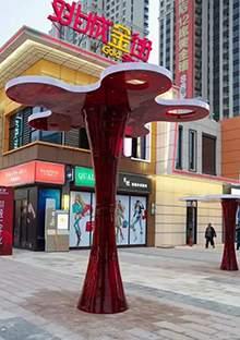 城市景观树雕塑商业街雕塑现代造型玻璃钢坐凳玻璃钢造型