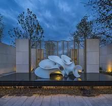现代雕塑 抽象雕塑 白色雕塑 景观设计