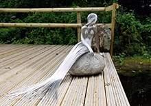 不锈钢雕塑抽象美人鱼雕塑不锈钢编织雕塑