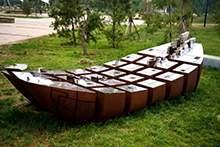 船型雕塑不锈钢雕塑园林雕塑抽象雕塑摆件地产雕塑