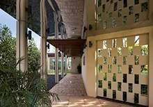 现代廊架景观廊亭售楼处景观亭景观走廊