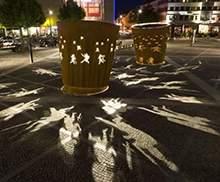 剪影雕塑广场雕塑不锈钢雕塑透光投影雕塑