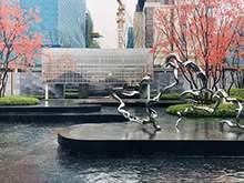 地产雕塑不锈钢雕塑飘带抽象雕塑水景雕塑