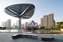 景观坐凳不锈钢景观亭不锈钢造型景观雕塑