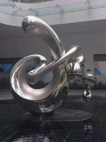 不锈钢抽象雕塑地产水景不锈钢雕塑镜面不锈钢雕塑售楼处