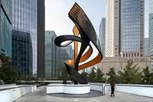 不锈钢雕塑广场地标精神堡垒大型雕塑现代原创雕塑白钢雕