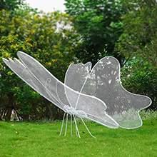 铁艺镂空蝴蝶雕塑创意不锈钢丝昆虫动物园林景观小品