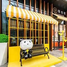 商业街美陈熊猫雕塑熊猫摆件门店卡通雕塑摆件现代卡通