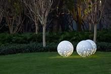不锈钢圆球不锈钢灯光互动雕塑景观雕塑园林雕塑
