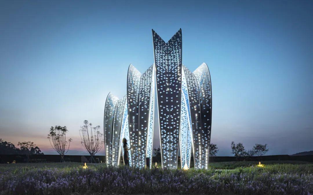 发光廊架雕塑造型
